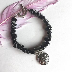 Black Obsidian Stone Bracelet