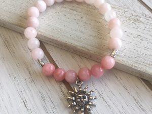 Pink Mala Bead Bracelet