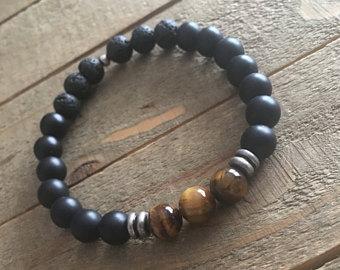 Tiger Eye Diffuser Bracelet